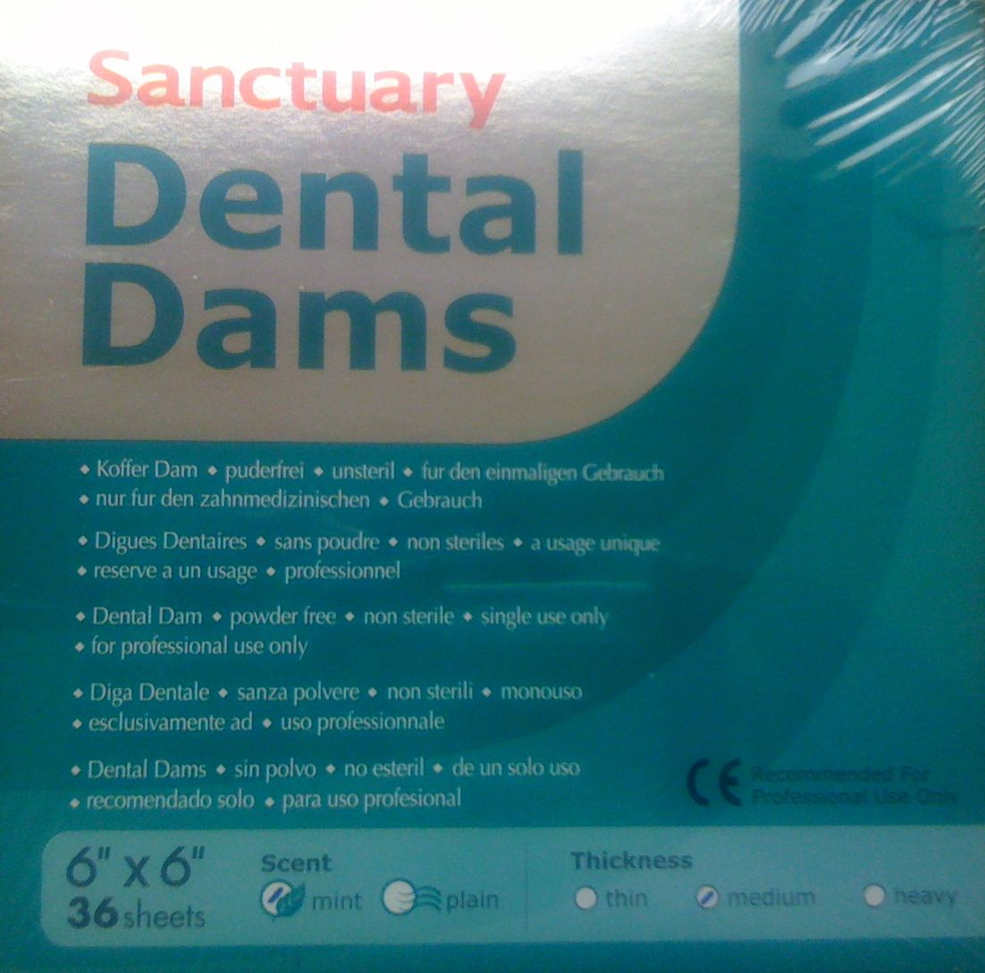 "Dental Dams Sanctuary 6""x6"" mint medium"