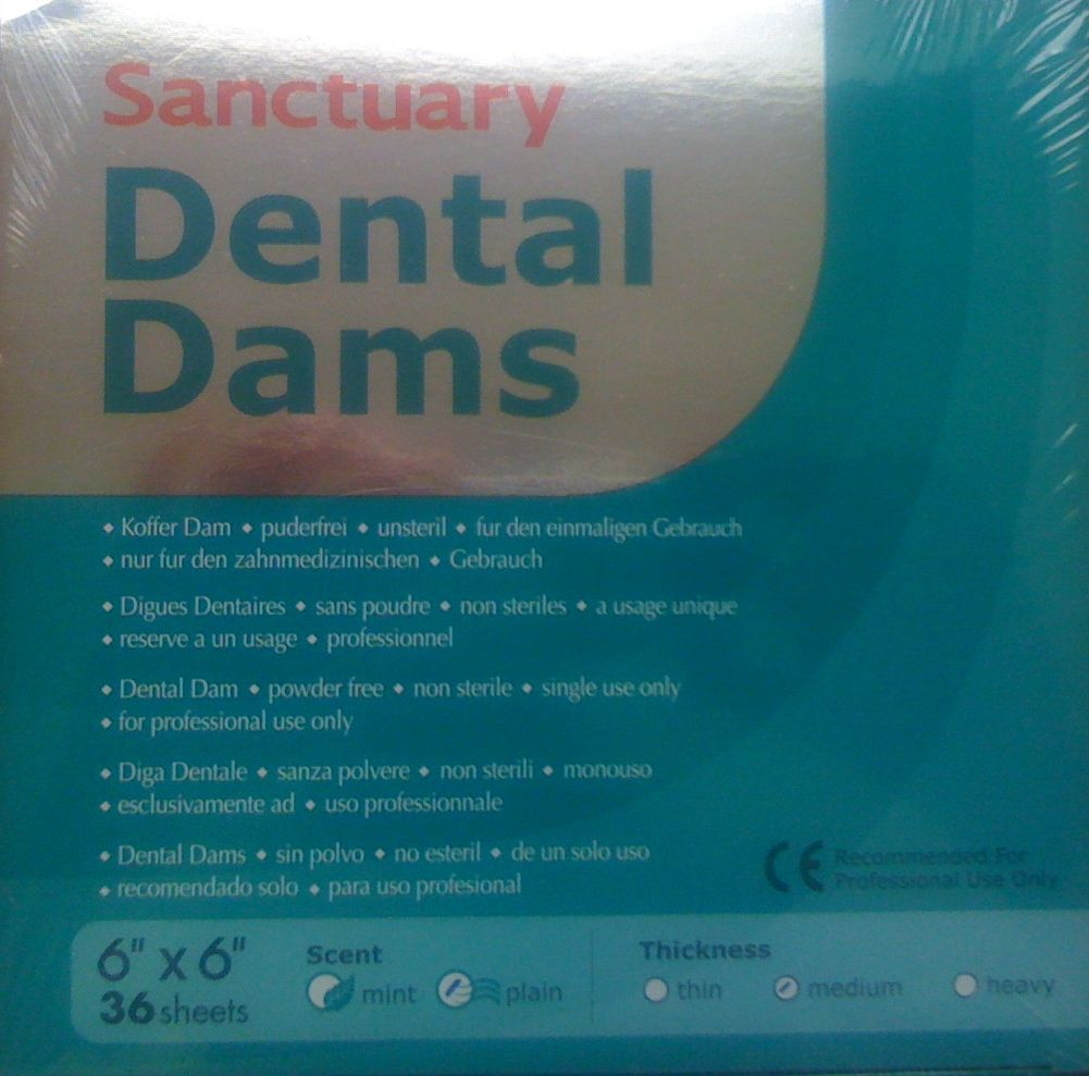 "Dental Dams Sanctuary 6""x6"" plain medium"